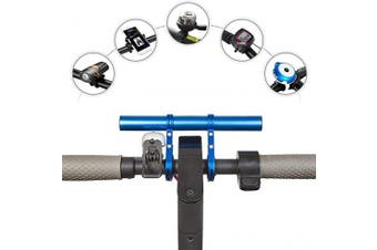 (Blue-20cm) - SOULBEST Bike Handlebar Extender - Bicycle Extension Bracket for Holding Lamp LED Light GPS Phone Speedometer,Lightweight Durable Aluminium Alloy Mount Holder for Motorcycle Bicycle Accessories