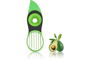 Avocado slicer, 3 In 1 Avocado Slicer Avocado Cutter Fruit & Vegetable Peeler Kitchen Tools, Avocado Cutter Green