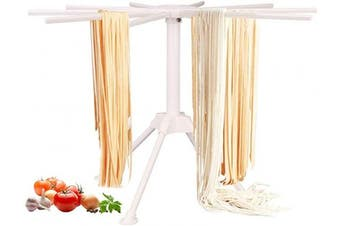 BUYGOO Pasta Drying Rack Noodle Stand with 10 Bar Handles Collapsible, Household Noodle Dryer Rack Hanging for Home Use, Spaghetti Drying Rack Noodle Stand for Making Fresh Pasta at Home