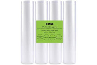 (4 rolls) - Mozing Vacuum Sealer Bags, Commercial Grade bag for Foodsaver and Seal a Meal Vac Sealers(4 rolls)