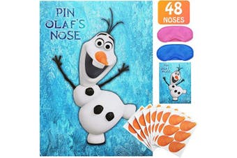 Pin The Nose on Olaf Party Game for Frozens Theme Birthday Party Supplies | Party Decoration