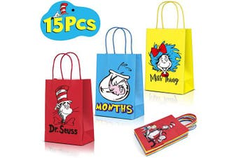 15 Party Bags For Dr. Seuss Birthday Party Decorations Supplies