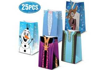 25 Party Bags For Anna And Elsa For Birthday Party Decorations Supplies