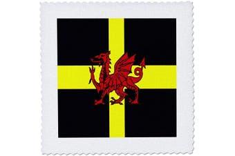 (15cm  x 15cm  quilt square, White) - 3dRose Garden Flag, White