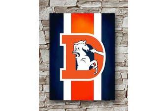 Huawuque Denver Broncos Retro Logo Poster Standard Size | 46cm by 60cm | Denver Broncos Posters Wall Poster Print