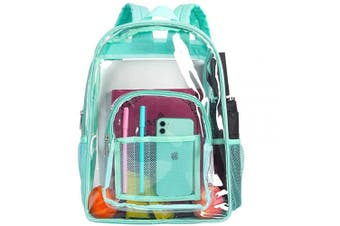(Green) - Clear Backpack, Heavy Duty See Through Backpack, 41cm Transparent Large Backpack for College - Green