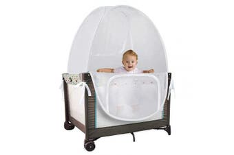 Baby Pack 'N' Play Pop Up Tent Safety Net, Protects from Insects, Mosquitoes and from Baby Climbing Out, Top Quality See Through Mesh Net