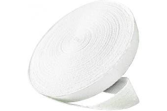 (1cm , White) - Abbaoww 50 Yard 1cm Cotton Twill Tape Ribbon, Soft Natural Webbing Tape Herringbone Bias Tape for Sewing DIY Craft, White