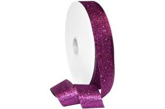 Morex Ribbon Princess Glitter Ribbon, Metallic, 3.8cm by 100 Yards, Shocking Pink, Item 98509/00-606, 3.8cm x 100 Yd,