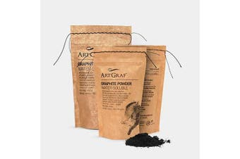 Art Graf Water Soluble Graphite Powder 250g Bag, Grey