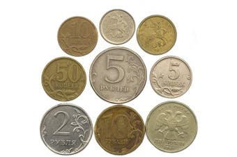 (Russia) - 10 OLD COINS FROM Russian Federation. Collectible Coins: KOPEKS and RUBLES. PERFECT CHOICE FOR YOUR COIN BANK, COIN HOLDERS AND COIN ALBUM