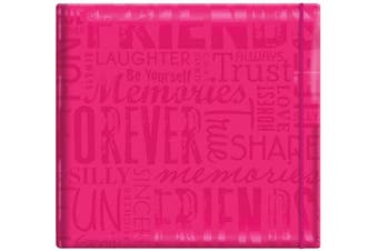 "(Hot Pink) - MBI 30cm x 30cm Gloss Post Bound ""Friends"" Album, Pink (848120)"