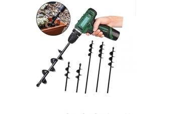 (1.96x17.7) - Auger Drill Bit for Planting, 18cm - 80cm Garden Plant Flower Bulb HEX Shaft Auger, Earth Auger Bit Post Hole Digger for 0.3cm - 1.3cm Hex Drive Drill (1.96x 17.7)