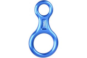 (Blue) - Azarxis 35KN Rappel Gear 8 Descender Heavy Duty & Large & High Strength Rappel Device Equipment for Descending, Rappelling, Belaying