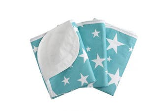 Upgrade Waterproof Nappy Changing Pads - Four Layer Washable Reusable Breathable Leak Proof Portable Changing Mat for Travel Home (35cm x 45cm (S))