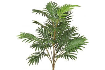 (2.5-ft Palm) - 0.8m Artificial Palm Leaves Tree Plants Imitation Leaf Artificial Plant Green Greenery Plants Faux FakeTropical Large Palm Leaves Tree Outdoor UV Resistant Plants for Home Kitchen