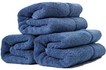 (hand-towels, Greyish Blue Hand-towels) - sense gnosis Bathroom Hand Towels Premium 100 Percent Cotton Ultra Soft Highly Absorbent Quick Dry Towel Multi-Purpose Home Spa, Towel Set of 3, 33cm X 70cm (Greyish Blue)