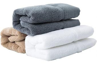 (hand-towels, White/Grey/Khaki Hand-towels) - sense gnosis Hand Towels Premium 100 Percent Cotton Ultra Soft Highly Absorbent Quick Dry Towel Multicoloured Home Spa, Towel Set of 3, 33cm X 70cm (White, Khaki, Grey)