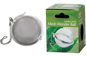 (1, Ball, 2.5-Inch) - HIC Loose Leaf Tea Infuser Strainer and Herbal Infuser, 18/8 Stainless Steel, Mesh Tea Ball, 6.4cm