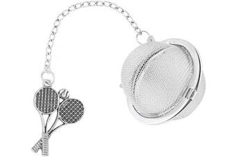 (Tennis) - Supreme Housewares Supreme 18/8 Stainless Steel 5.1cm Mesh Tea Ball Infuser with Zinc Alloy Tennis Charm