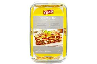 (Medium) - Glad Rectangular Glass Baking Dish – 2.2l, Freezer-to-Oven and Dishwasher Safe, Medium