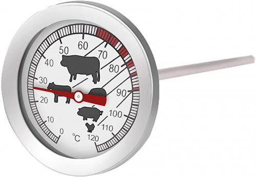 Stainless Steel Dial Meat Thermometer 1 Pack