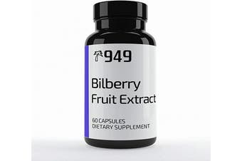 (60 Caps) - Bilberry Extract, Under 10 Dollars, 60 Capsules, Vision Health, Antioxidant Support, No Additives or Fillers, Lab-Tested Purity, Made in USA, Satisfaction . , 949*