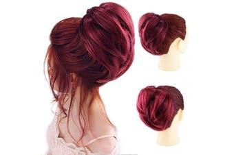 (Straight Bun, BUG) - AQINBEL Tousled Synthetic Hairpiece Scrunchies Straight Elastic Updo Scrunchy Bun For Women(Colour:BUG#)