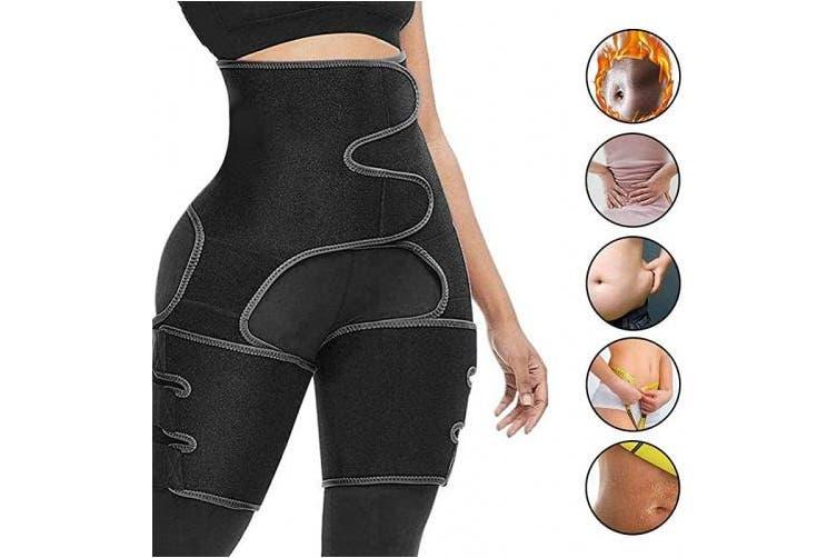 Medium S M Black Vva Waist Trainer Women 3 In 1 Waist And Thigh Trimmer For Women