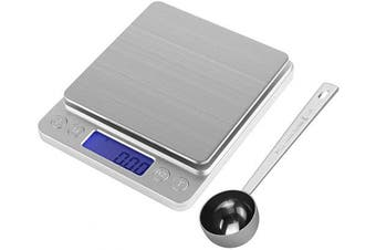 HYVAWO Kitchen Measuring Set Digital Gramme Scale 500g/ 0.01g and Scoop 1Tbsp/15ml