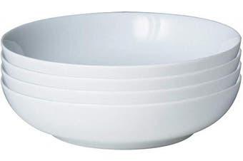 Denby Set of 4 Pasta Bowl Set, One size, white neutral