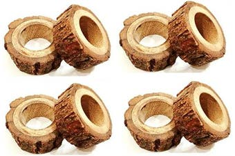(8) - Divine glance Handmade Rustic Wooden Napkin Rings Table Decoration Ideas (8)
