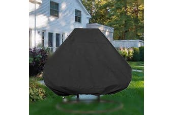 boyspringg Patio Hanging Egg Chair Cover Waterproof Wicker Egg Swing Chair Covers Double Outdoor Furniture Protector Dust-Proof 230cm X 200cm Black