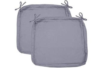 """Sigmat Outdoor Seat Cushion Cover Water Repellent Patio Deep Seat Chair Cushion Cover-Only Cover Grey 60cm x 60cm x 4""""(2 Covers)"""