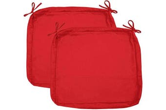 """Sigmat Outdoor Seat Cushion Cover Water Repellent Patio Deep Seat Chair Cushion Cover-Only Cover Red 60cm x 60cm x 5""""(2 Covers)"""