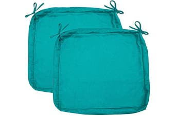 "Sigmat Outdoor Seat Cushion Cover Water Repellent Square Chair Cushion Cover-Only Cover Teal 50cm x 50cm x 2""(2 Covers)"