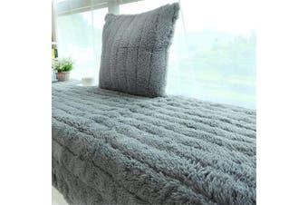 (70x150cm, Grey) - CAMAL Plush Thickened Non-Slip Bay Window Pad/Windowsill Mat/Window Bench Mat (70x150cm, Grey)