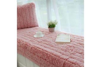 (70x120cm, Pink) - CAMAL Plush Thickened Non-Slip Bay Window Pad/Windowsill Mat/Window Bench Mat (70x120cm, Pink)