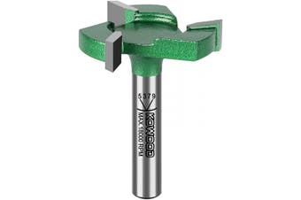 CNC Spoilboard Surfacing Router bit, 0.6cm Shank, 2.5cm - 0.6cm Cut Dia, 0.6cm Cut Length, 3 Wings, Professional Woodworking Tools by KOWOOD PRO