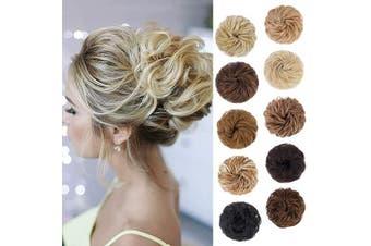 (24/613) - Isaic Messy Bun Hair Piece Updo Scrunchies Donut Chignons Hair Extensions Synthetic Hair Bun Piece for Women (24/613)