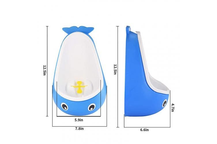 (Dark Blue) - Whale Potty Training Urinal for Boys with Funny Aiming Target, Toddler Boy Toilet Pee Trainer - Dark Blue