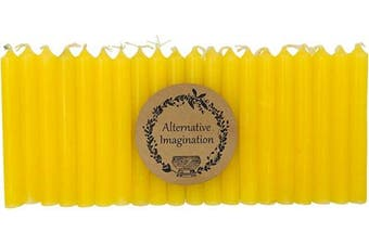 (Yellow) - Alternative Imagination Set of 20 Yellow, Unscented, 10cm Tall Chime Candles (Altar, Spell)