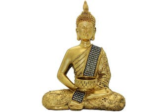 26cm (H) Buddha Statue of Thailand Sit Buddha Ornaments Handicrafts Home Decorations BS115