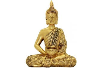 Resin Thai Buddha Statue Home Ornaments Wealth Lucky Figurine BS120