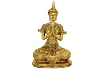27cm (H) Handmade Resin Statue Bring Luck Asian Art Decor Figurine Gold Home Decor BS110