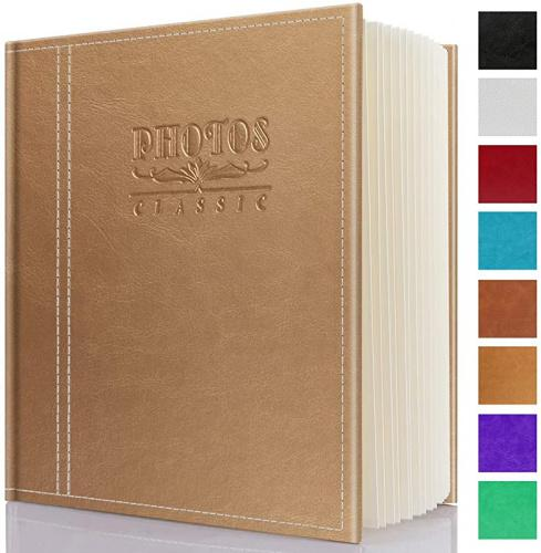6X8,8X10 dustproof Albums,Albums Holds 3X5 5X7 Safedealshop Self-Stick Page Photo Album 4X6 Brown-Large Family Album Leather Cover Hand Made DIY Albums,Waterproof Albums