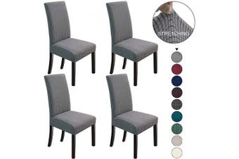 (4, Light Grey) - NORTHERN BROTHERS Dining Chair Covers Stretch Chair Covers Parsons Chair Slipcover Chair Covers for Dining Room Set of 4,Light Grey