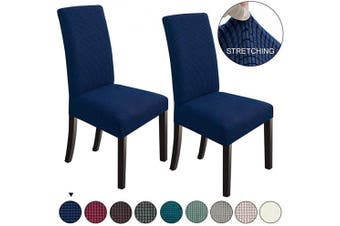 (2, Navy Blue) - NORTHERN BROTHERS Dining Chair Covers Stretch Chair Covers Parsons Chair Slipcover Chair Covers for Dining Room Set of 2,Navy Blue
