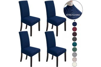 (4, Navy Blue) - NORTHERN BROTHERS Dining Chair Covers Stretch Chair Covers Parsons Chair Slipcover Chair Covers for Dining Room Set of 4,Navy Blue