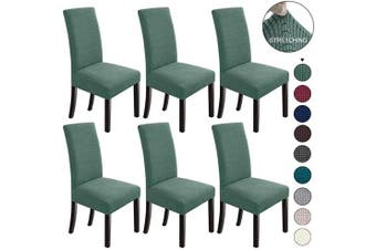 (6, Cyan) - NORTHERN BROTHERS Dining Chair Covers Stretch Chair Covers Parsons Chair Slipcover Chair Covers for Dining Room Set of 6,Dark Cyan